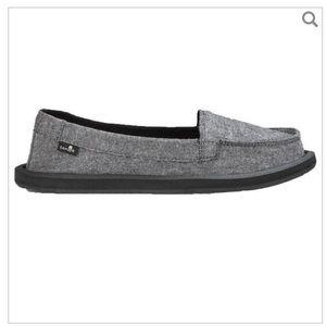 Sanuk Grey Shorty flats- Size 10